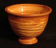 redware agate fruit bowl