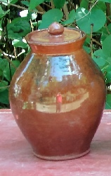medium ovoid redware jars