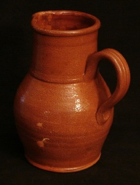 ruckled glazed pitcher, back