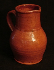 ruckled glazed pitcher, front